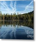 Reflecting Blue Metal Print