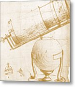 Reflecting Telescope Metal Print