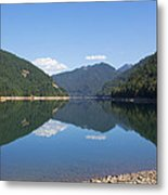 Reflection At The Reservoir Metal Print
