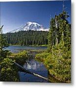 Reflection Lake With Mount Rainier Metal Print