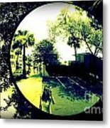 Reflection Of A Photographer Metal Print