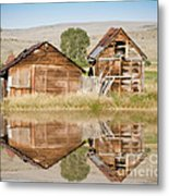 Reflection Of An Old Building Metal Print