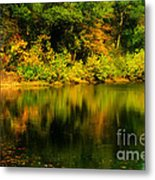 Reflection Of Autumn Colors Metal Print