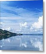 Reflection Of Clouds In Water, Lough Metal Print