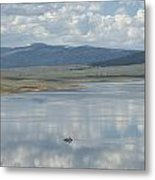 Reflection Of Clouds On Eagle Nest Lake Metal Print