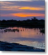 Reflection Of The Sunset Metal Print