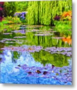 Reflections At Giverny Metal Print