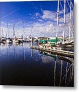 Reflections Brunswick Marina Metal Print