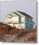 Reflections from a Beach House Metal Print