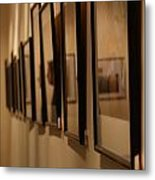 Reflections From A Series Of Painting Frames Metal Print