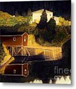 Reflections Golden Morning Metal Print by Barbara Griffin