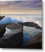 Reflections In Monument Cove Metal Print