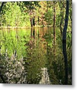 Reflections In The Merced Metal Print