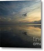 Reflections In The Sound Metal Print