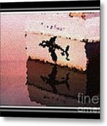 Reflections Of An Orca In Stained Glass Metal Print