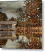 Reflections Of Autumn Metal Print by Robin-Lee Vieira