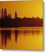 Reflections On Jessica Lake At Sunrise Metal Print