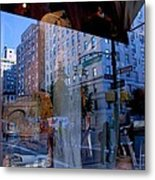 Reflections On Madison Avenue Metal Print