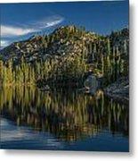Reflections On Salmon Lake Metal Print