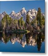 Reflections On Schwabacher Landing Metal Print