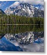 Reflections On String Lake Metal Print