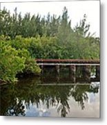 Reflections On The North Fork River Metal Print