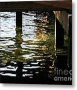 Reflections Under Pier Metal Print