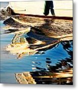 Reflective Launch Metal Print