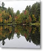 Reflective Turtle Pond - Adirondack Park New York Metal Print