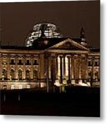 Reichstag At Night Metal Print