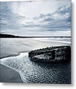 Reighton Sands Beach Metal Print