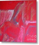 Relaxing In Red Metal Print