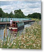 Relaxing On The Canal Metal Print