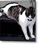 Relaxing On The Steps Metal Print