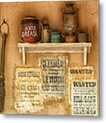 Relics Of The Old West Metal Print