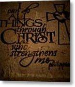 Religious Quote Metal Print
