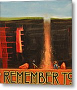 Remember To Flush Poster Metal Print