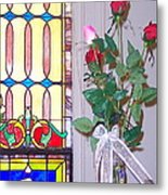 Remembering With Roses Metal Print