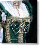 Renaissance Lady In Green Metal Print