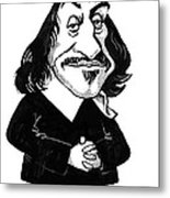Rene Descartes, Caricature Metal Print
