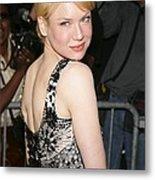 Renee Zellweger Wearing A Carolina Metal Print