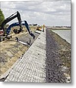 Renewing Shore Defences, Netherlands Metal Print by Colin Cuthbert