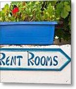 Rent Rooms Sign Metal Print