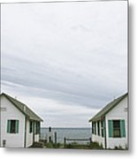 Rental Cottages Along A Cape Cod Beach Metal Print