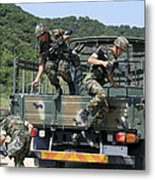 Republic Of Korea Marines Dismount Metal Print
