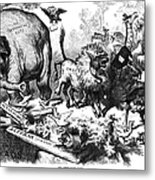 Republican Elephant, 1874 Metal Print