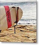 Rescue Surfboard Metal Print