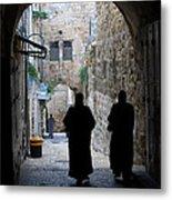 Residents Of Jerusalem Old City Metal Print