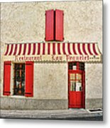Restaurant In Provence Metal Print