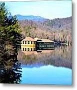 Restaurant Over Looking The Lake In North Carolina Metal Print